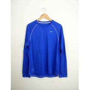 Nike Dri Fit Blue Mens Training Shirt Sz M